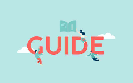 Guide user information illustration. Educational guide and web reference for use technical instructions frequently asked questions help with learning and learning new devices.