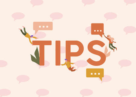 Tips illustration. Solutions and suggestions helpful newsletters and notes business creative knowledge solutions thoughts innovative services provision of cutting edge vector. Illusztráció
