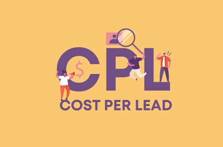 CPL cost per lead. Commercial profitable trade and successful financial income distribution corporate business protection of retail product vector industrial loans and countering crisis.