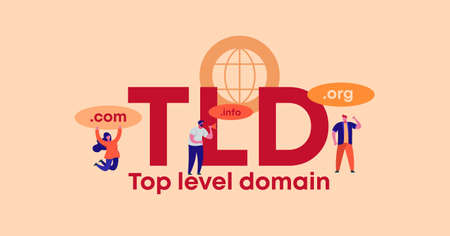 TLD top level domain. Organization of site and web management applications security digital privacy and marketing form of encryption convenient transaction certificate with vector quality guarantee.