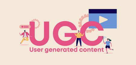 UGC user generated content. Advertising organization of site and web management applications discussion digital privacy and marketing form of encryption transaction certificate with vector consumers.