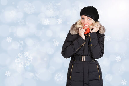 Young woman in the snow photo