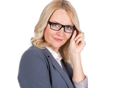 Young woman with black glasses photo