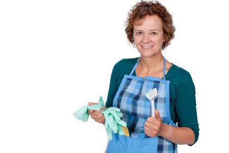 housework: Woman doing housework