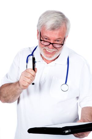 pension cuts: Laughing doctor