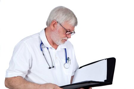 Doctor liet a report Stock Photo