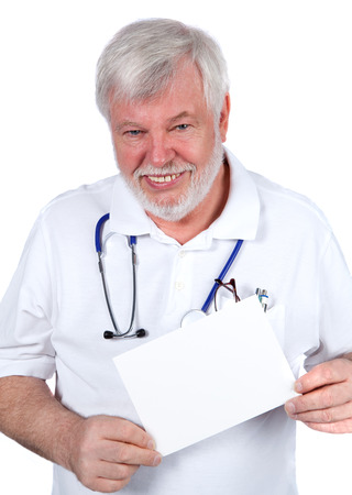 pension cuts: Doctor keeps withe sign in hand