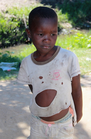destitute: Rural living - village children in Mozambique Editorial