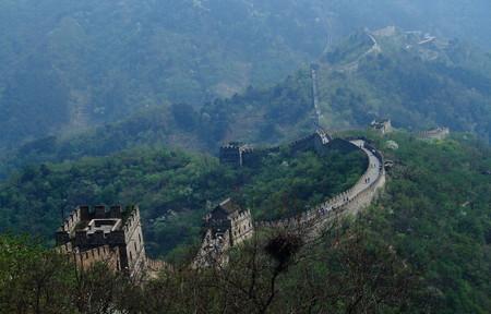 invaders: Great Wall of China at Mutianyu Stock Photo