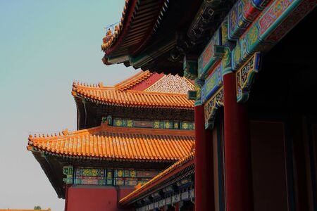 embellished: Architechture - ornate roof construction in China