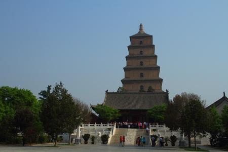 Big Wild Goose Pagoda Xian China Editorial