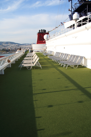 sightsee: Upper deck of a cruise ship