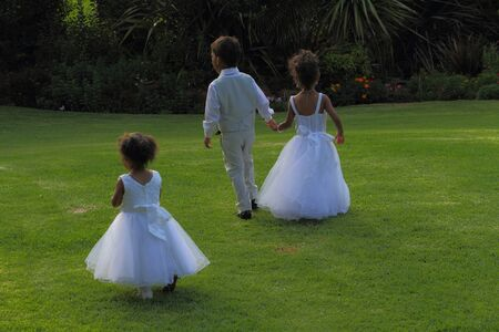 flowergirl: Boys and girls at a wedding