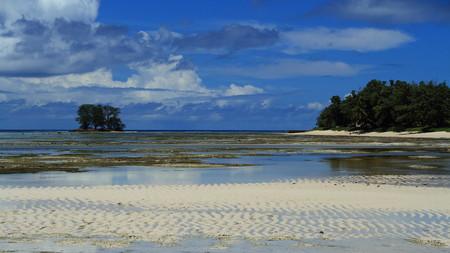 destination: La Digue Island travel destination Seychelles Stock Photo