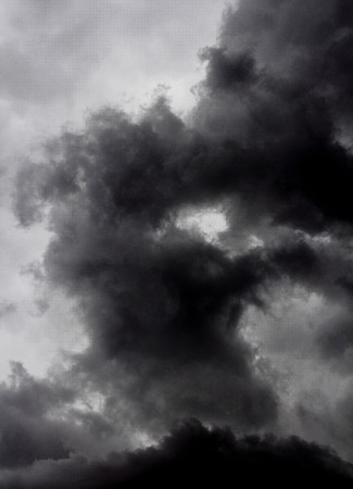 cloud formations: Cloud formations - form of a human face in the clouds