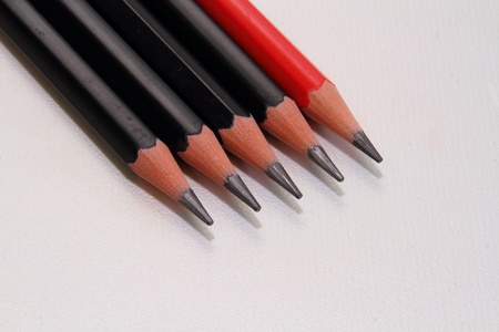 scribe: Pencils - writing instruments Stock Photo