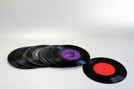yesteryear: Music from yesteryear - seven singles Stock Photo