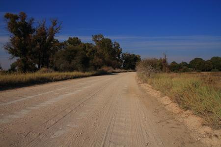northwest africa: Dust road through rural South Africa