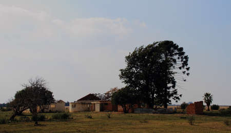 downturn: An abandoned farm house in rural South Africa