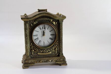 period of time: A clock showing the last minute of time Stock Photo