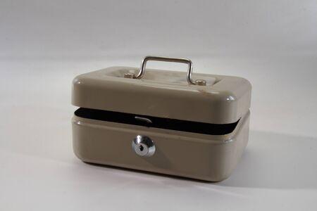 unlocked: An unlocked cash box Stock Photo