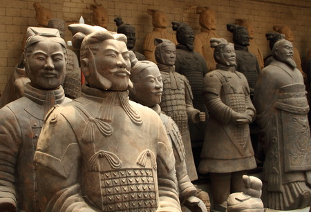 Renovated terracotta warriors Xi'an China