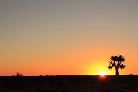 northern cape: Wide angle sunset Namaqualand Northern Cape South Africa Stock Photo