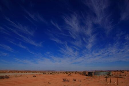 wide open spaces: Landscape with whispy clouds in Namaquland Northern Cape Province South Africa