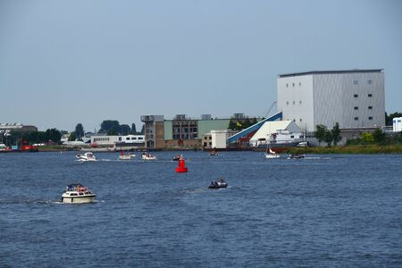 boating: Family leisure boating activities Amsterdam Holland