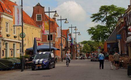 lemmer: Street scene Lemmer Holland