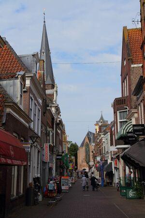 lemmer: Street scene Lemmer Netherlands