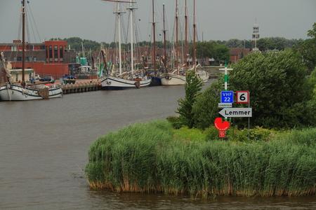 lemmer: Entrance to Lemmer Harbor Holland