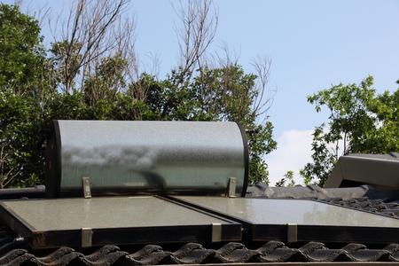 A residential solar geyser