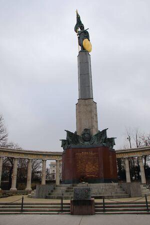 worl: Soviet War Memorial Vienna Austria Editorial