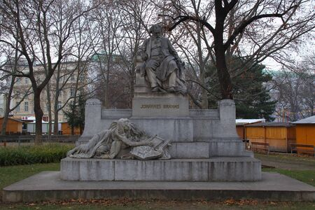 johannes: Johannes Brahms statue Vienna Austria