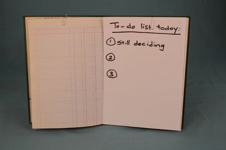 finalized: The to-do list of an indecisive person