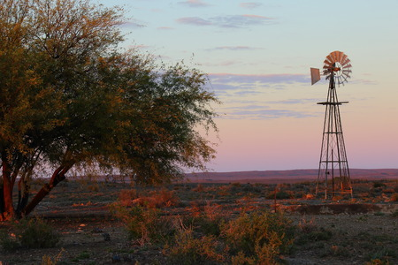 Landscape - Karoo natural region in the Northern Cape of South Africa Stock Photo