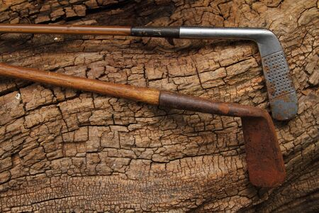 of yesteryear: Retro hickory shafted golf clubs