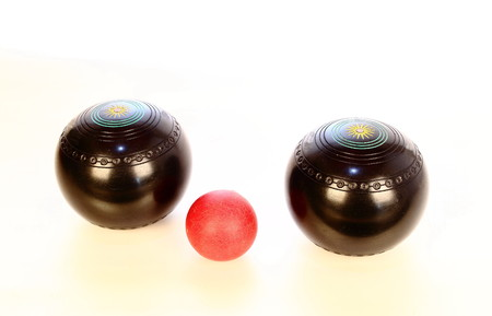 guts: Two big balls and one small ball Stock Photo