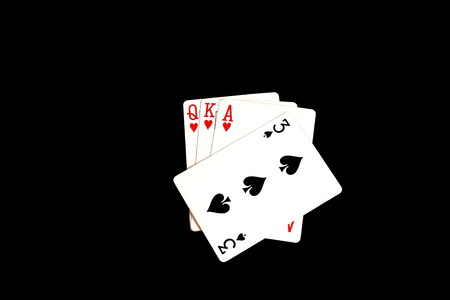 Playing cards - a trump card played