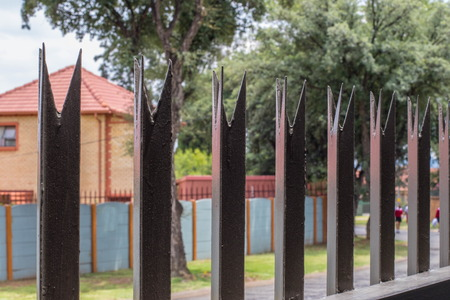 Johannesburg, South Africa - with rife unemployment and high crime statistics in the country, private safety and home security measures have increased, image in landscape format Redakční