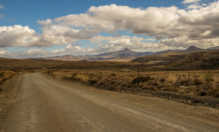 Karoo winter landscape in the Nieu Bethesda district South Africa image in landscape format with copy space
