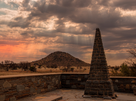 Norvalspont, South Africa - The Norvalspont Concentration Camp Memorial in memory of the women and children who died in the camp during the Anglo Boer War