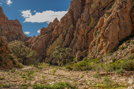 The Swartberg Pass runs through the Swartberg mountain range in the Karoo region in the Western Cape province of South Africa