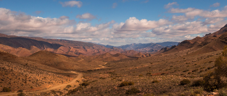 Landscape on the road to Weltevrede near the hamlet of Prince Alfred in the Karoo region of South Africa
