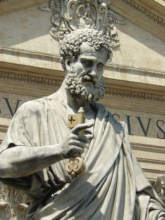 Saint peter sculpture, Vatican , Rome
