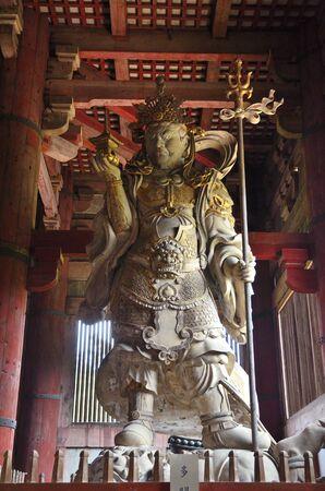 todaiji: NARA todaiji Temple tamonten statue