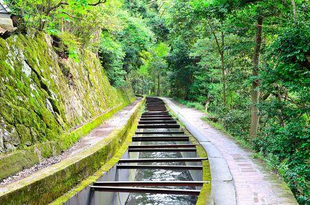 hydrophobic: Lake Biwa Canal Stock Photo