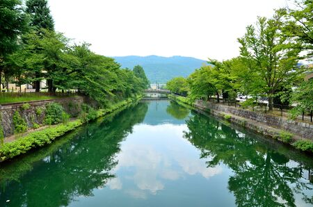 Kyoto Biwako Canal Stock Photo
