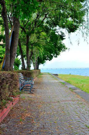 along: Along the Lake Biwa scenery Stock Photo